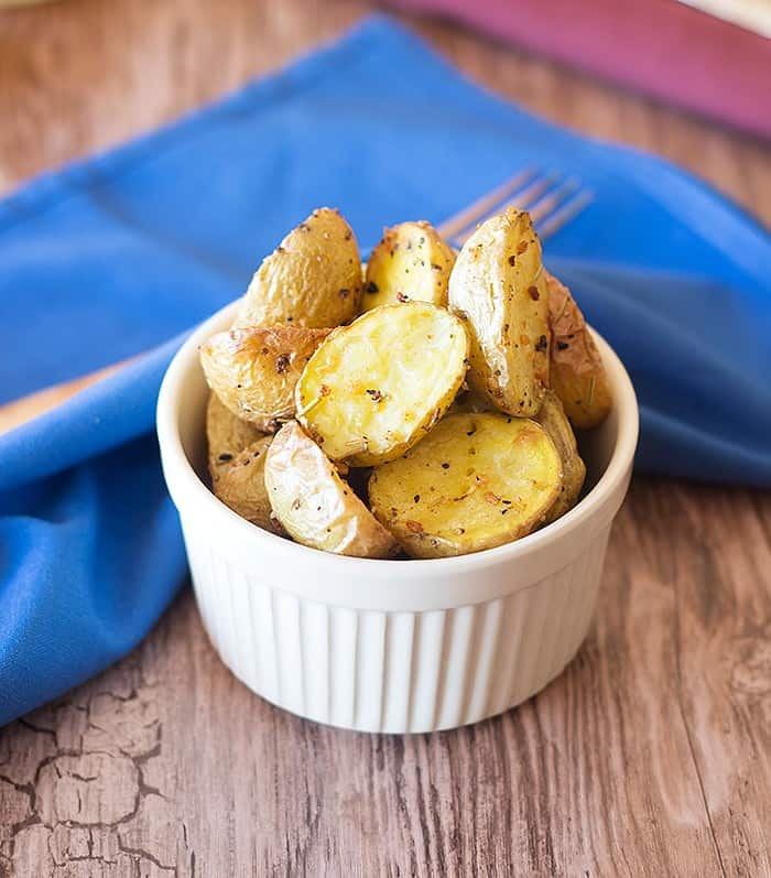 Oven Roasted Potatoes with Thyme are delicious and easy to make. Plus, there is no mess!