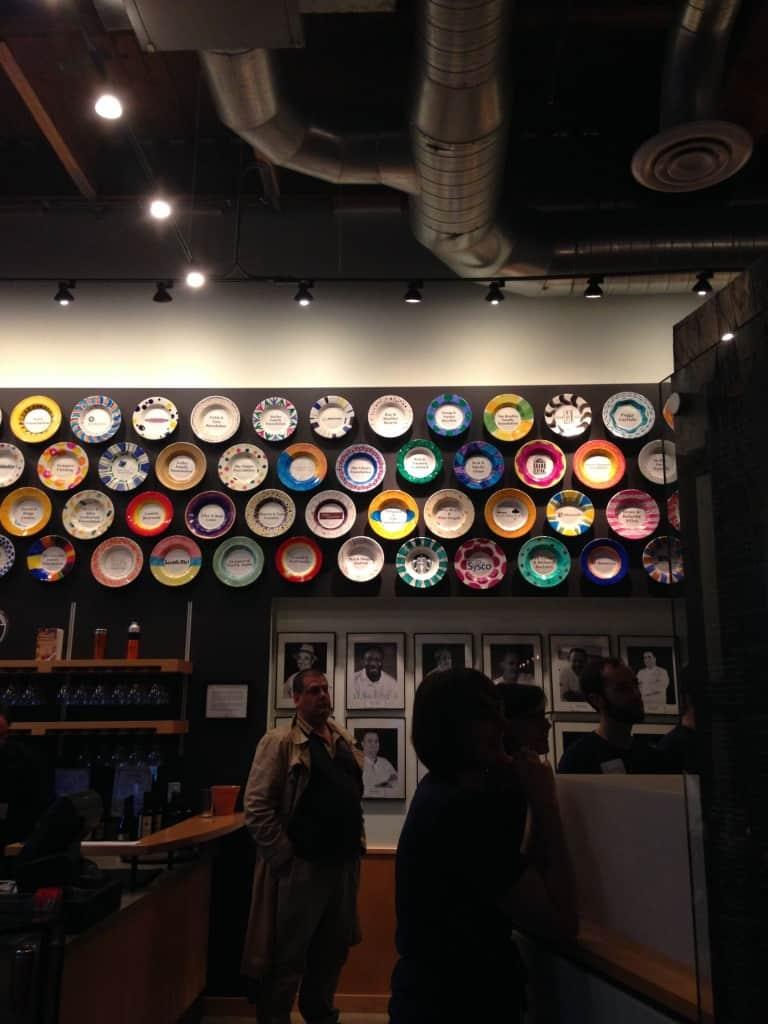 SEt of plates at Seattle Farestart