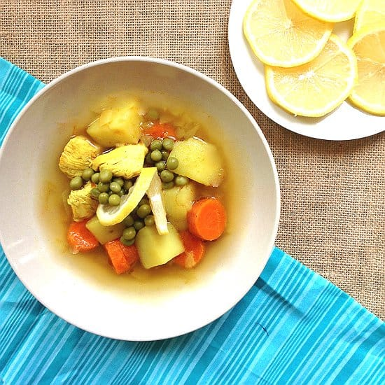 This Comfort Chicken soup is perfect for chilly days!