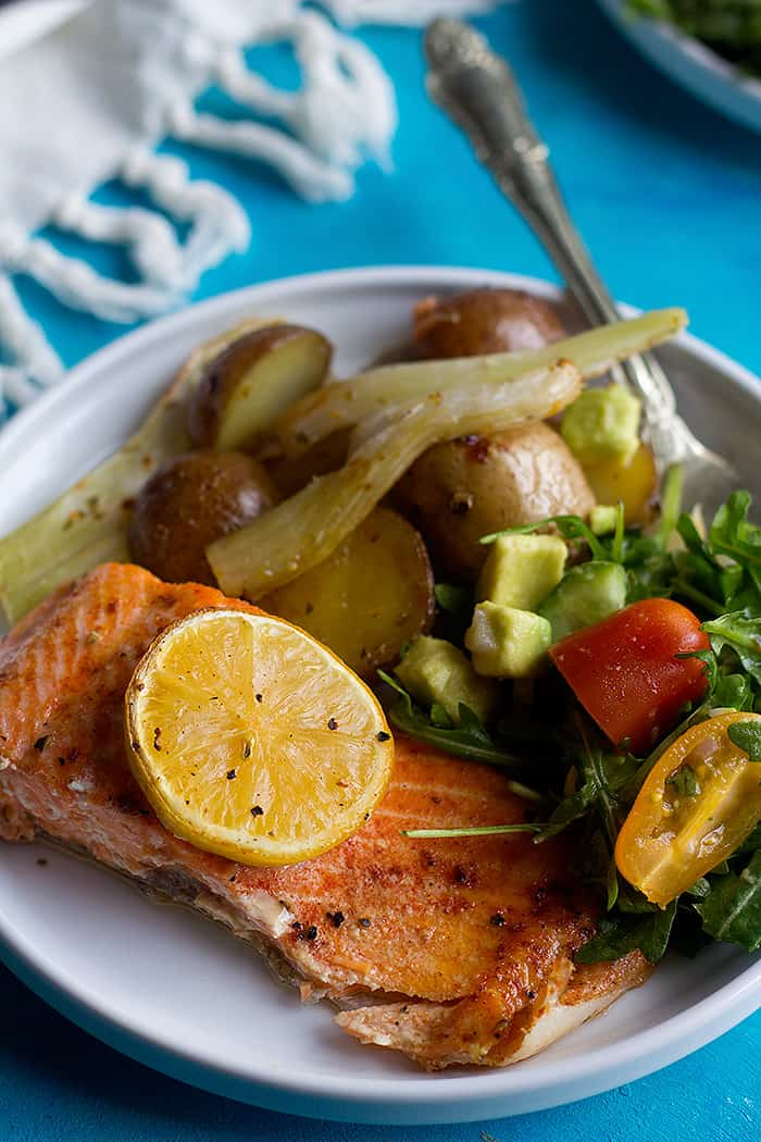 Easy and tasty baked salmon recipe.