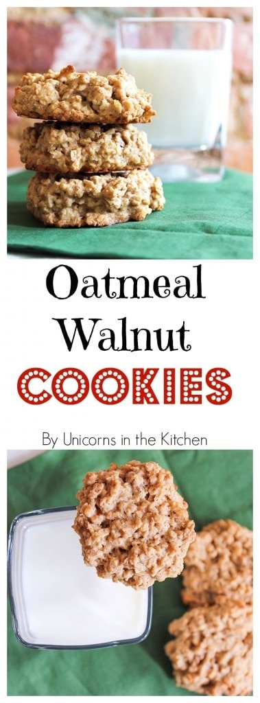 Oatmeal Walnut Cookies • Unicorns in the Kitchen