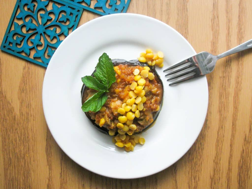Persian Split chickpea stew is a great dish to be served with Persian style rice