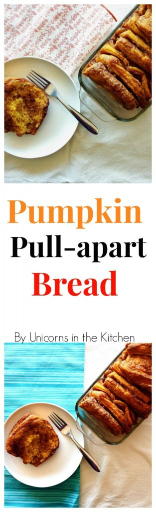 Pumpkin Pull-apart bread is the best fall treat! full of cinnamon and fall flavors!