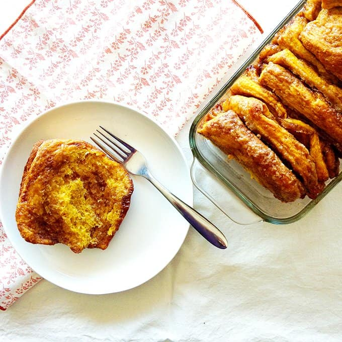 Pumpkin pull apart bread is the ultimate fall dessert! Delicious and soft pull apart bread made with pumpkin puree is the perfect dessert or breakfast.