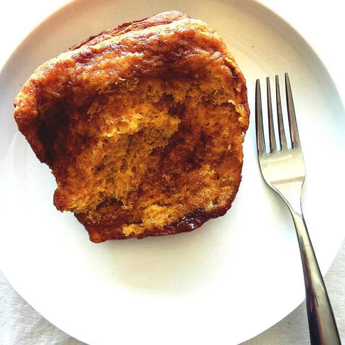 Pumpkin pull apart bread is made with a soft dough and cinnamon sugar.