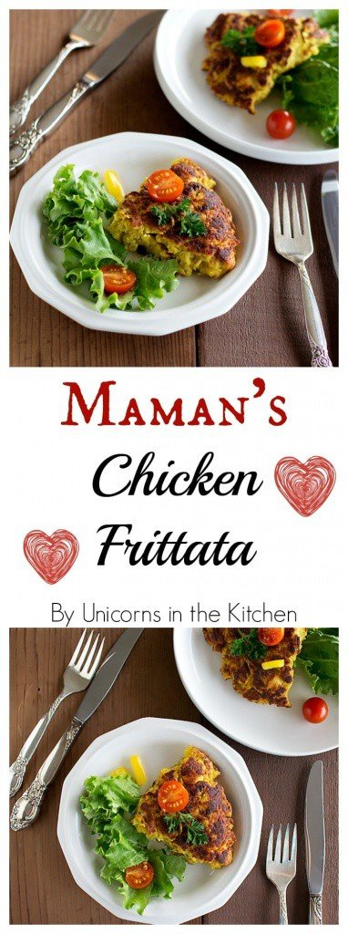 This is my maman's way of making chicken frittata. It requires a few ingredients and can be on the table in less than one hour! Another Persian deliciousness!