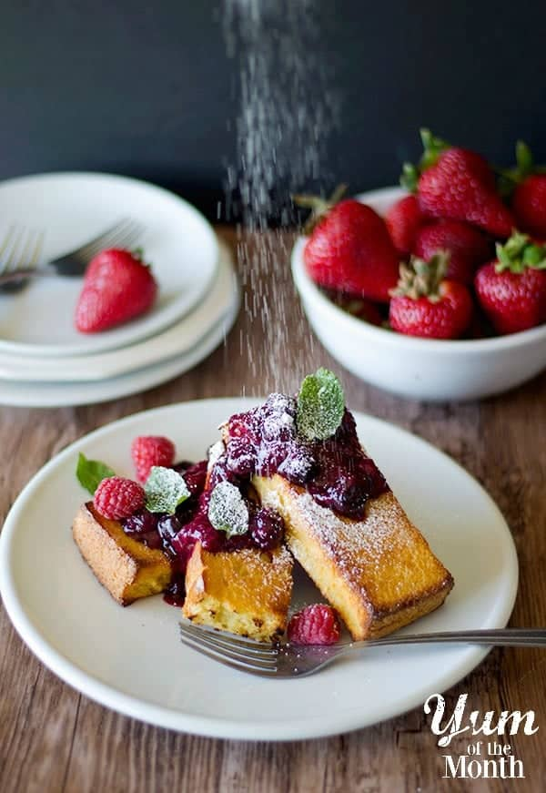Baked French Toast with Berry Compote • Unicorns in the Kitchen