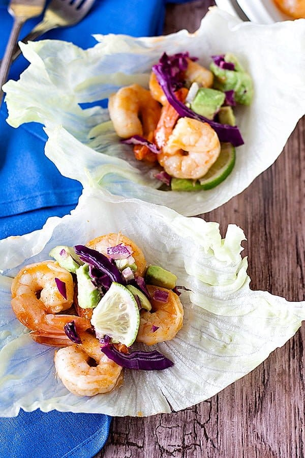 Make these Sriracha Lime Shrimp Lettuce Wraps to enjoy a light meal with some heat. Serve with a fresh avocado cabbage slaw for more flavor.