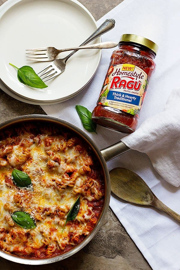 Love pasta? Try this one pot chicken parmesan pasta made with chicken breast and pasta sauce.