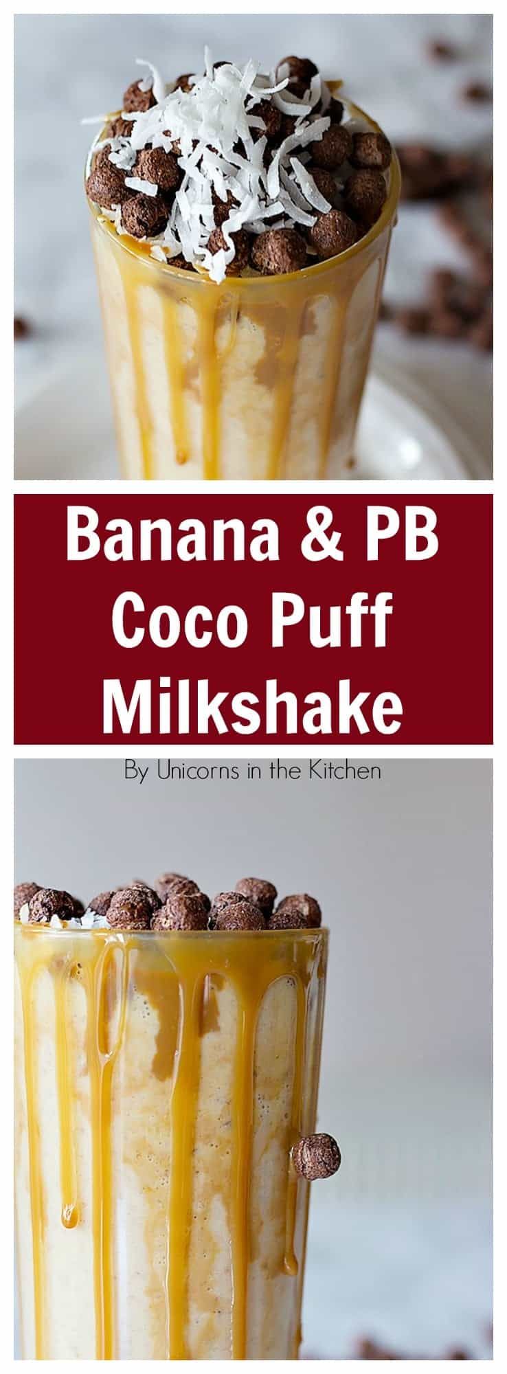 This Banana Peanut Butter Coco Puff Milkshake will make your breakfast more exciting and delicious because it has all the best flavor combinations in one tall glass!