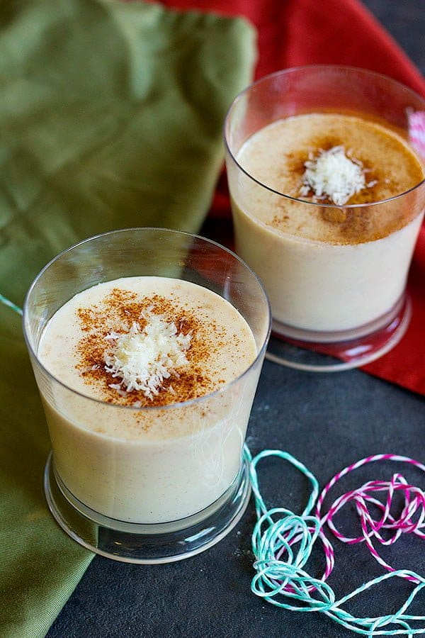 Looking for an easy way to make eggnog more exciting? This Cinnamon Coconut Eggnog is a delicious twist on the good old winter drink that will warm up your winter days!