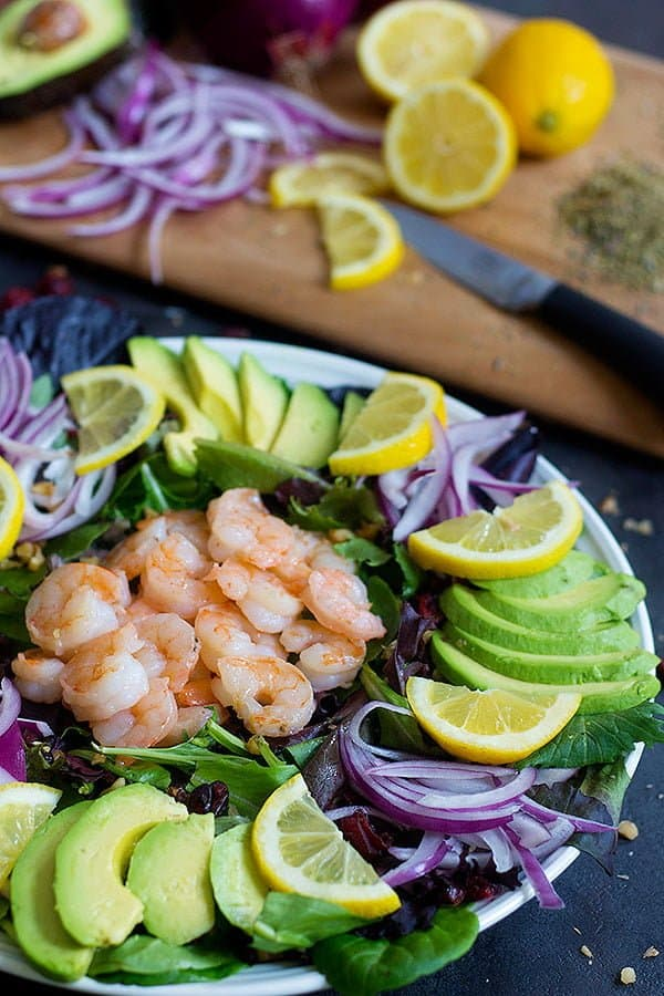 don't over cook the shrimp for the avocado salad with shrimp.