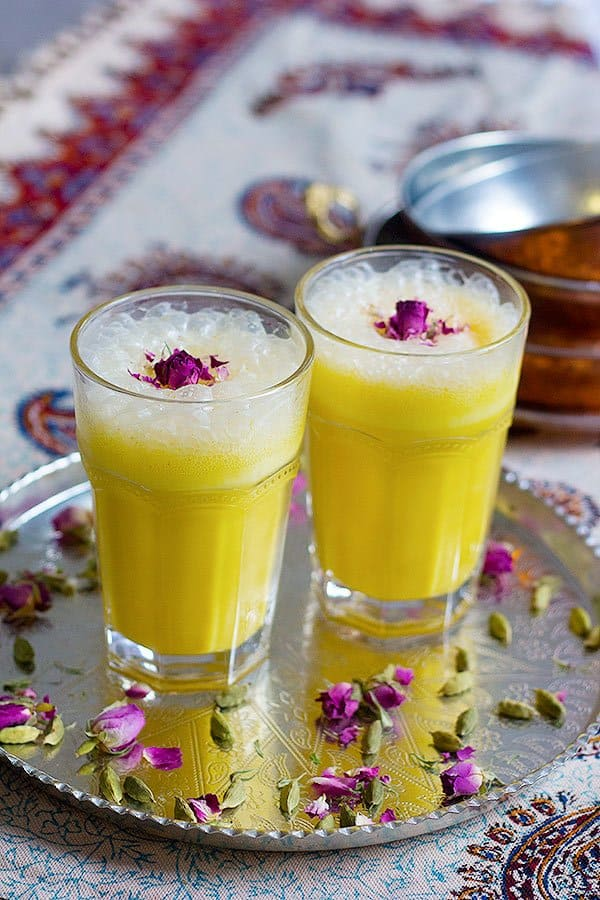 Take a delicious trip to Iran with this Persian Saffron Milkshake recipe that tastes like traditional Iranian ice cream without the hassle!