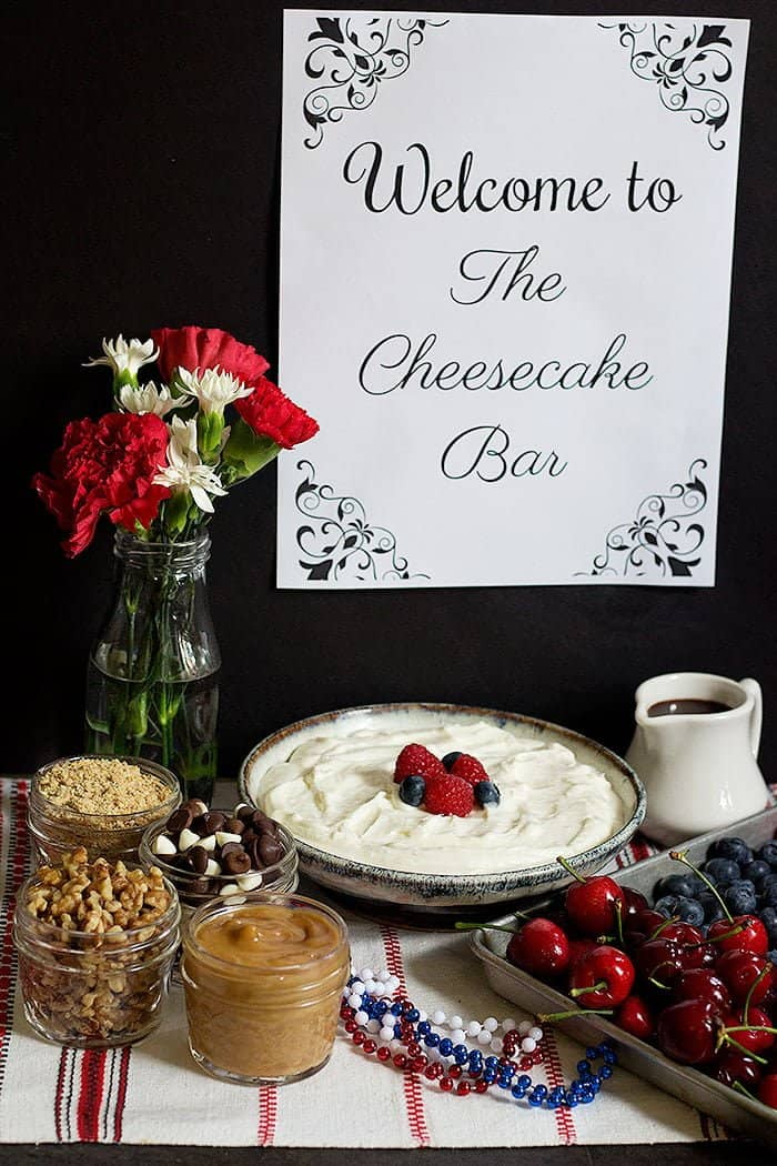 Make your own no bake cheesecake bar easily and with only a few ingredients! Everyone loves a cool and delicious no bake cheesecake!