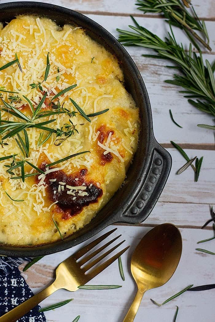 cheesy scalloped potatoes recipe is easy and simple to make. It's perfect for Thanksgiving.