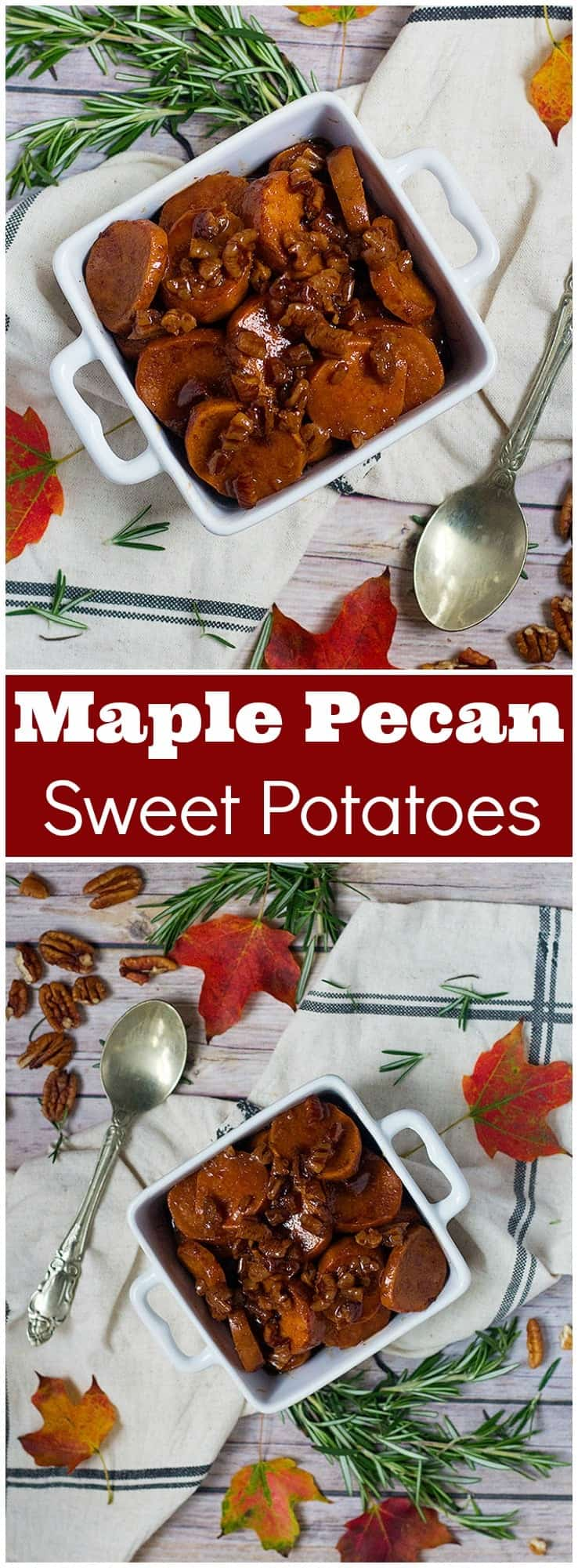 Maple Pecan Sweet Potatoes   maple pecan sweet potatoes mashed   maple pecan sweet potato Casserole   from unicornsinthekitchen.com