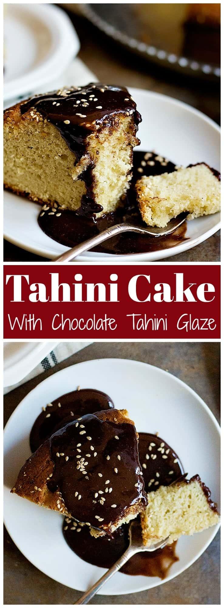 Tahini Cake | Tahini Cake Recipe | Sesame Seeds Cake | Chocolate Tahini Glaze | Tea Cake | #tahini #cake #Chocolate