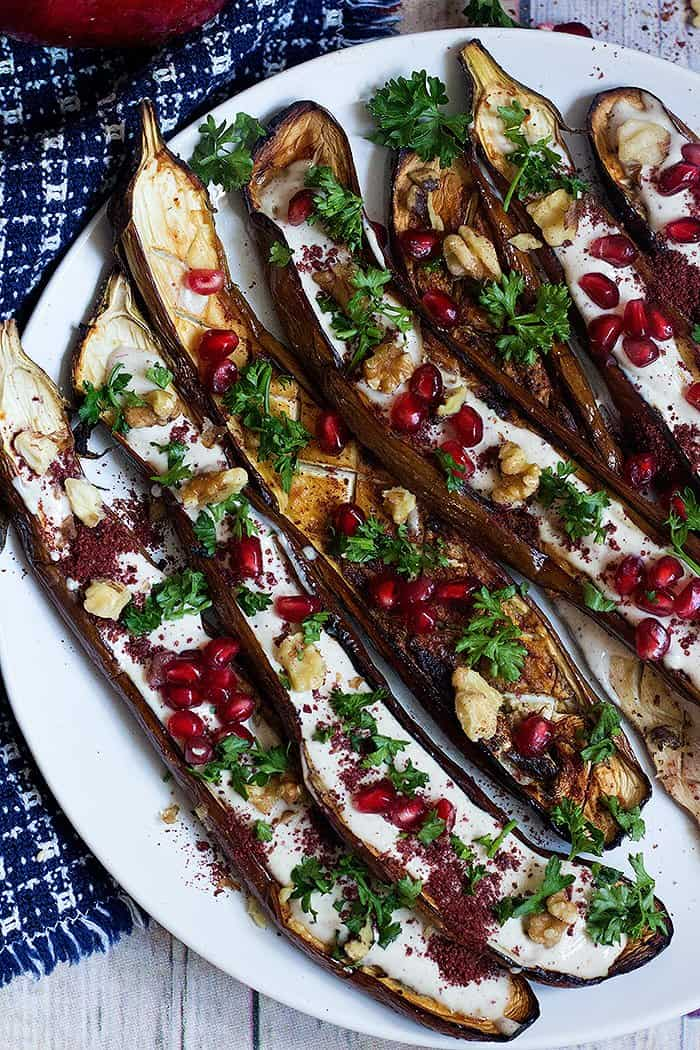 This middle eastern eggplant recipe is easy to follow and has amazing flavors.