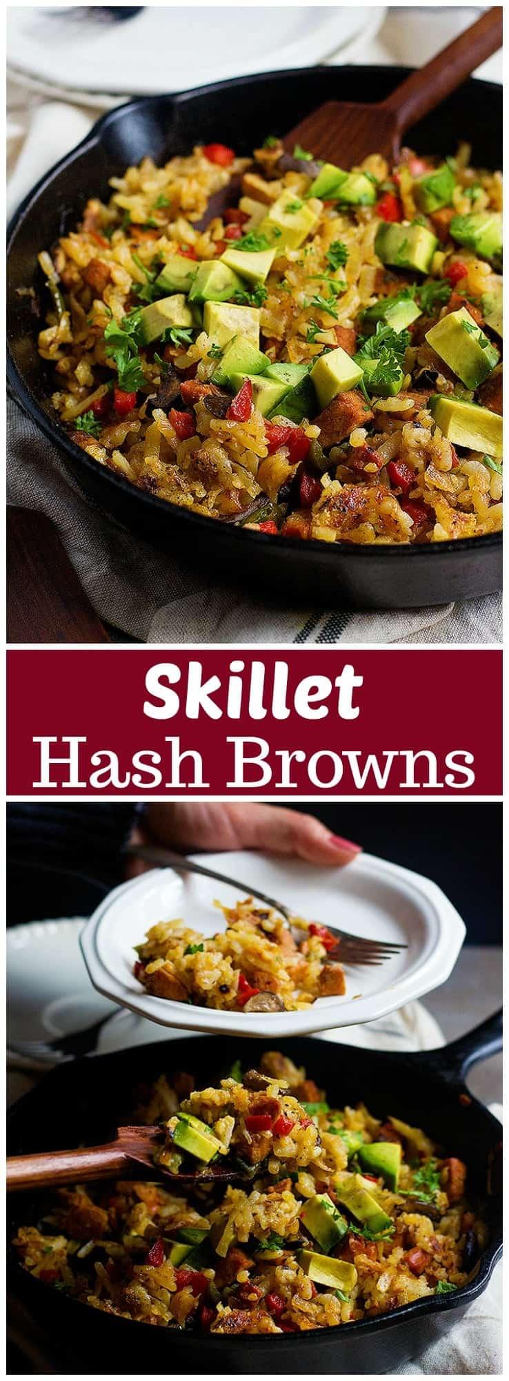 Skillet Hash Browns | Skillet Hash Browns Recipe | Skillet Hash Browns Breakfast | Hash Browns and Sausage | #HashBrowns #HashBrownsBreakfast