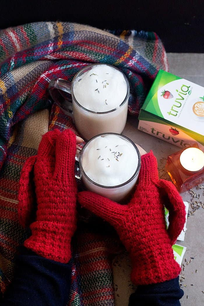 This tea latte recipe is perfect for cold days.