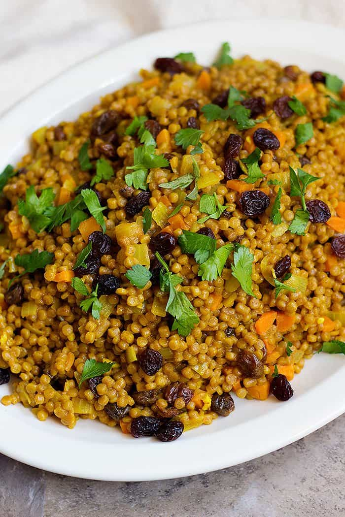 Moroccan chicken and couscous with raisins and carrots make the perfect dinner