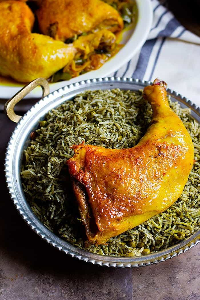 Serve Persian Chicken with dill rice for a full meal.