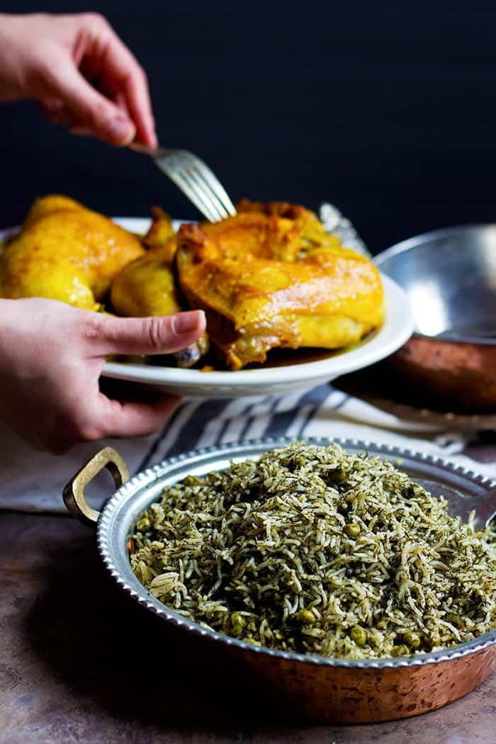 Serve this dish with saffron chicken.