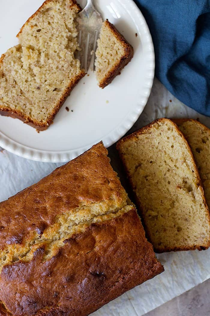 Easy sour cream banana bread is just perfect for any occasion.
