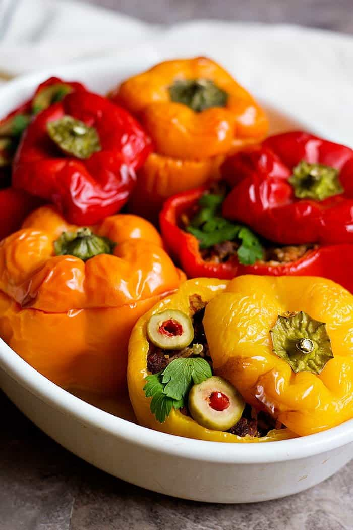 Mediterranean stuffed peppers are great for family meals.