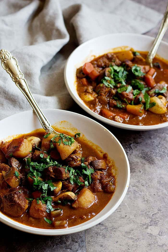 This lamb stew is perfect for winter and cold days.