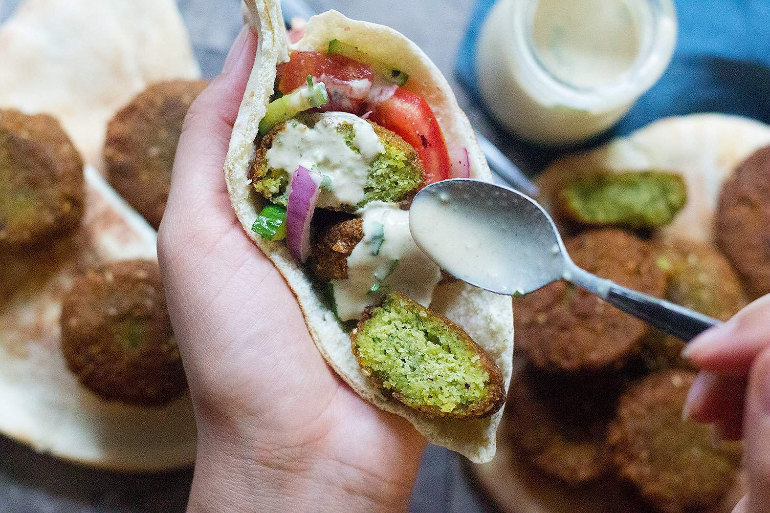 Learn how to make falafel and enjoy it at home with pita and greens.