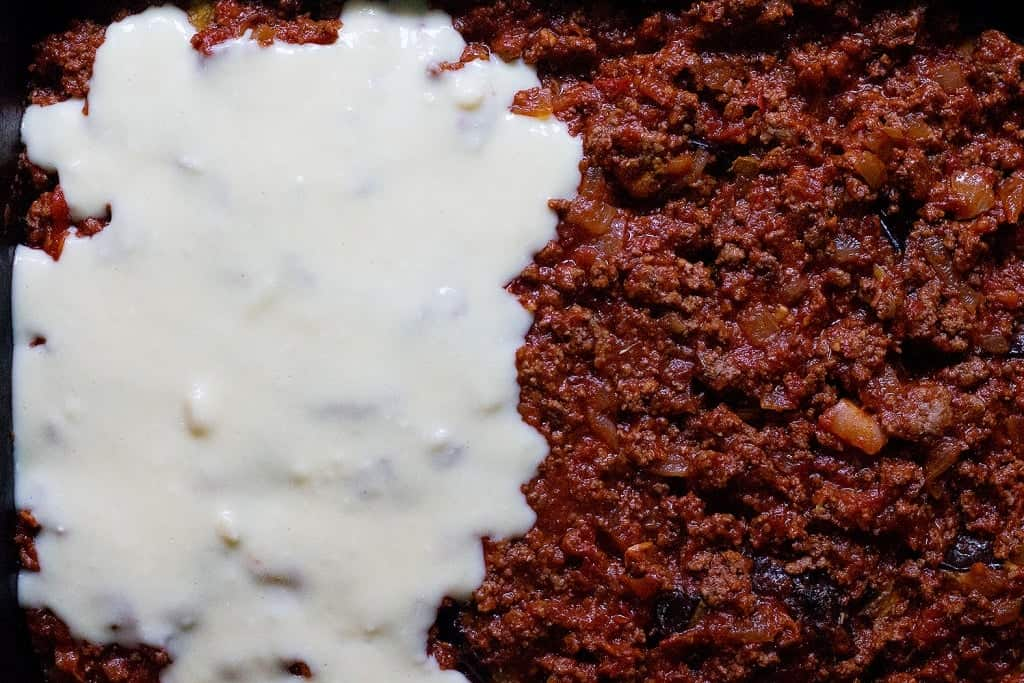 top with bechamel