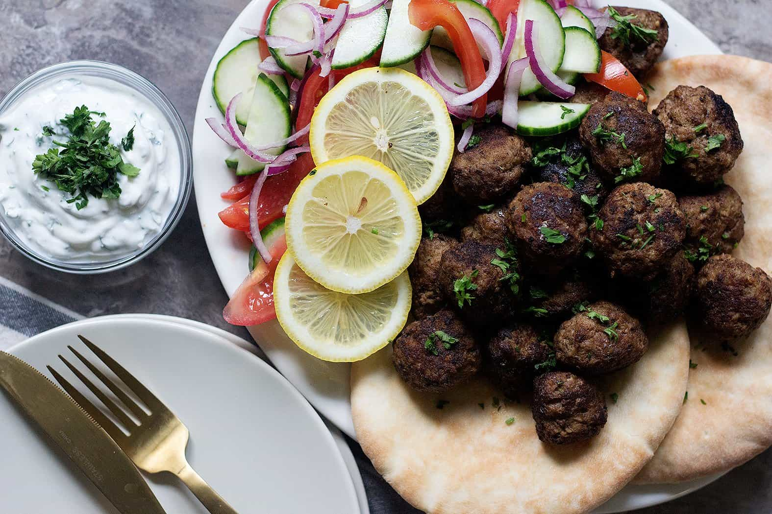 Easy and tasty Greek meatballs make a perfect family dinner.