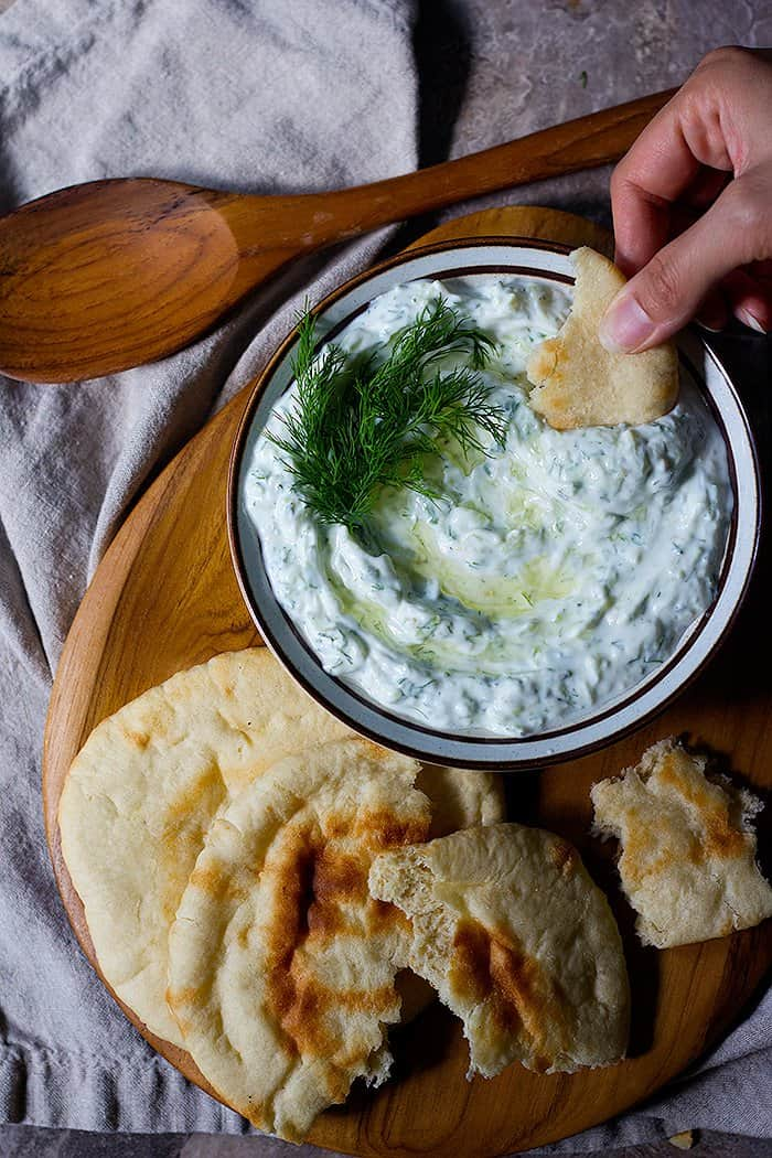 Tzatziki sauce is easy and very simple to make. It's a popular Greek cucumber sauce that everyone loves.