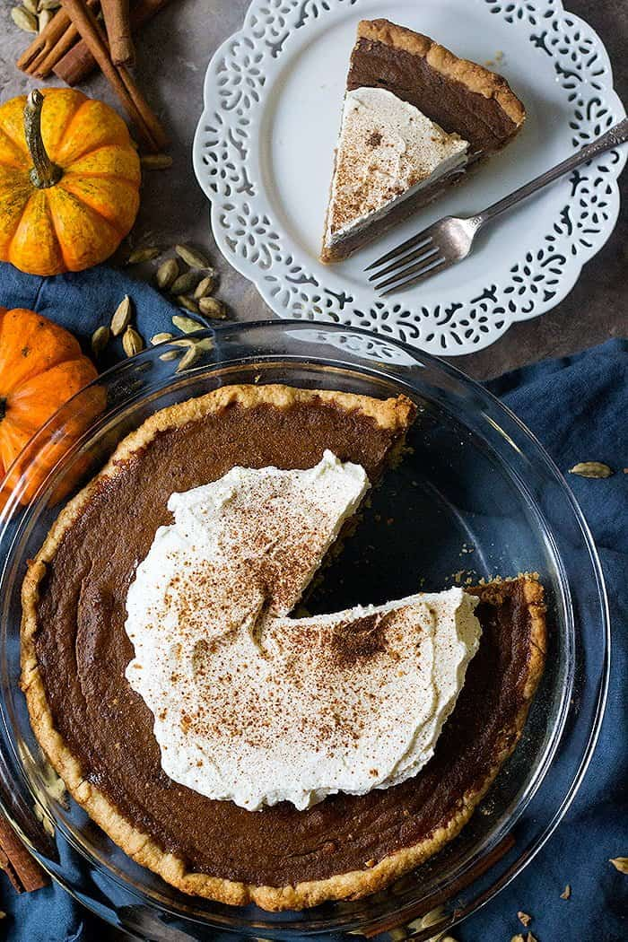 Easy pumpkin pie recipe made from scratch.