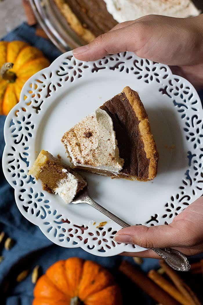 Chai pumpkin pie is perfect for fall.