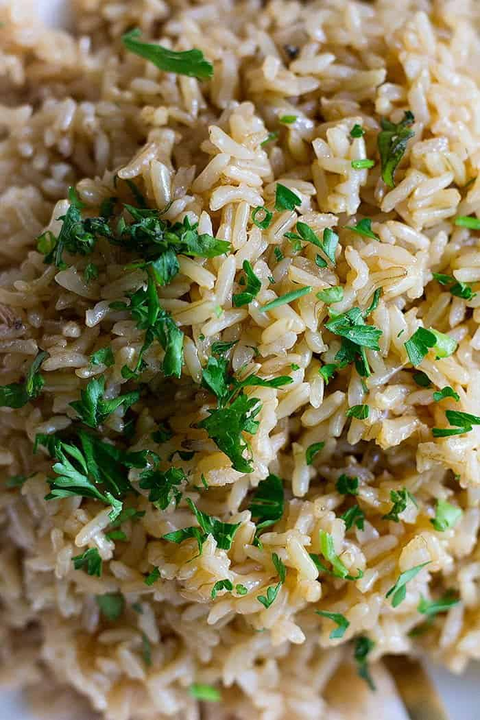 Brown rice in instant pot is easy and efficient.