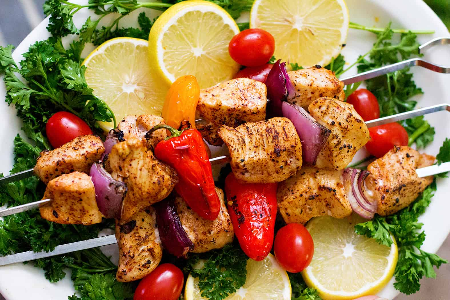 Mediterranean Chicken Shish Kabob Recipe Video Unicorns In The Kitchen