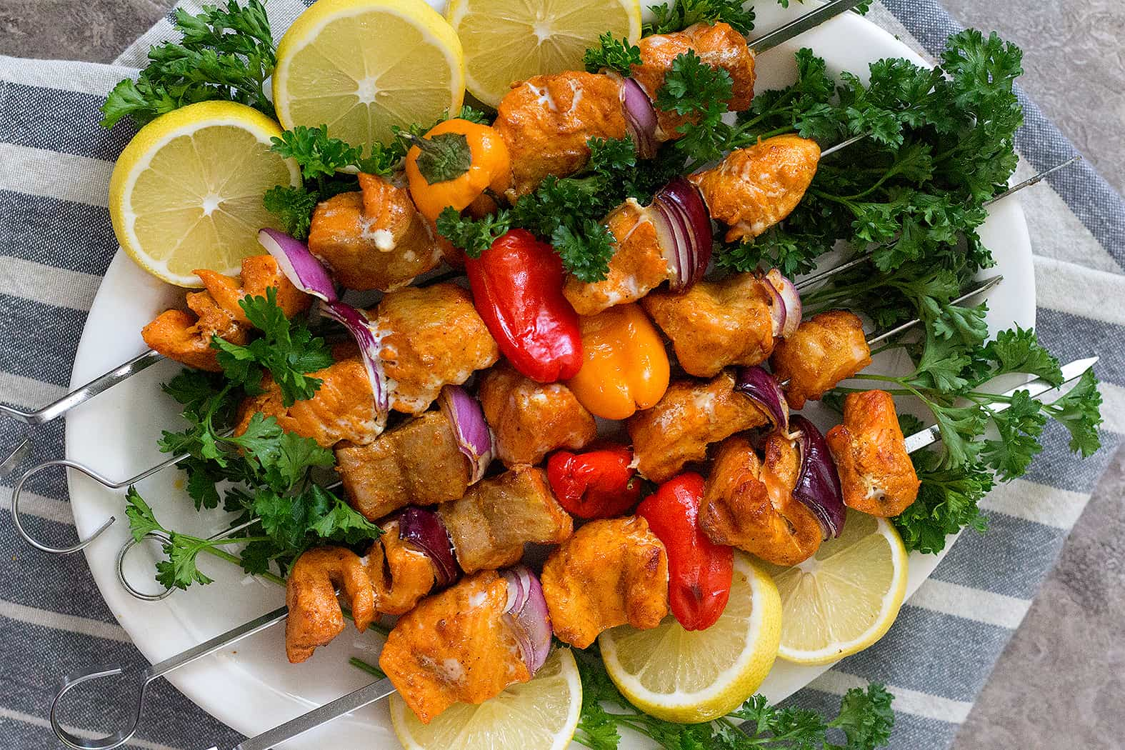 Grill salmon kabobs for about ten minutes.