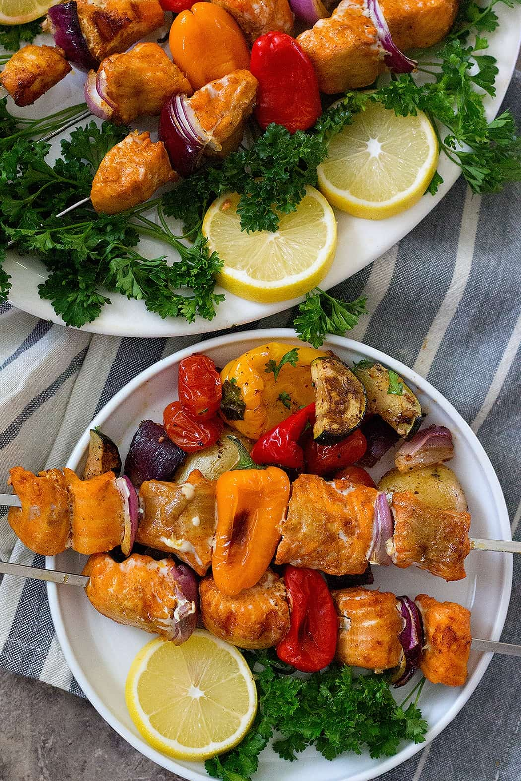 salmon shish kabobs are perfect for summer entertaining.