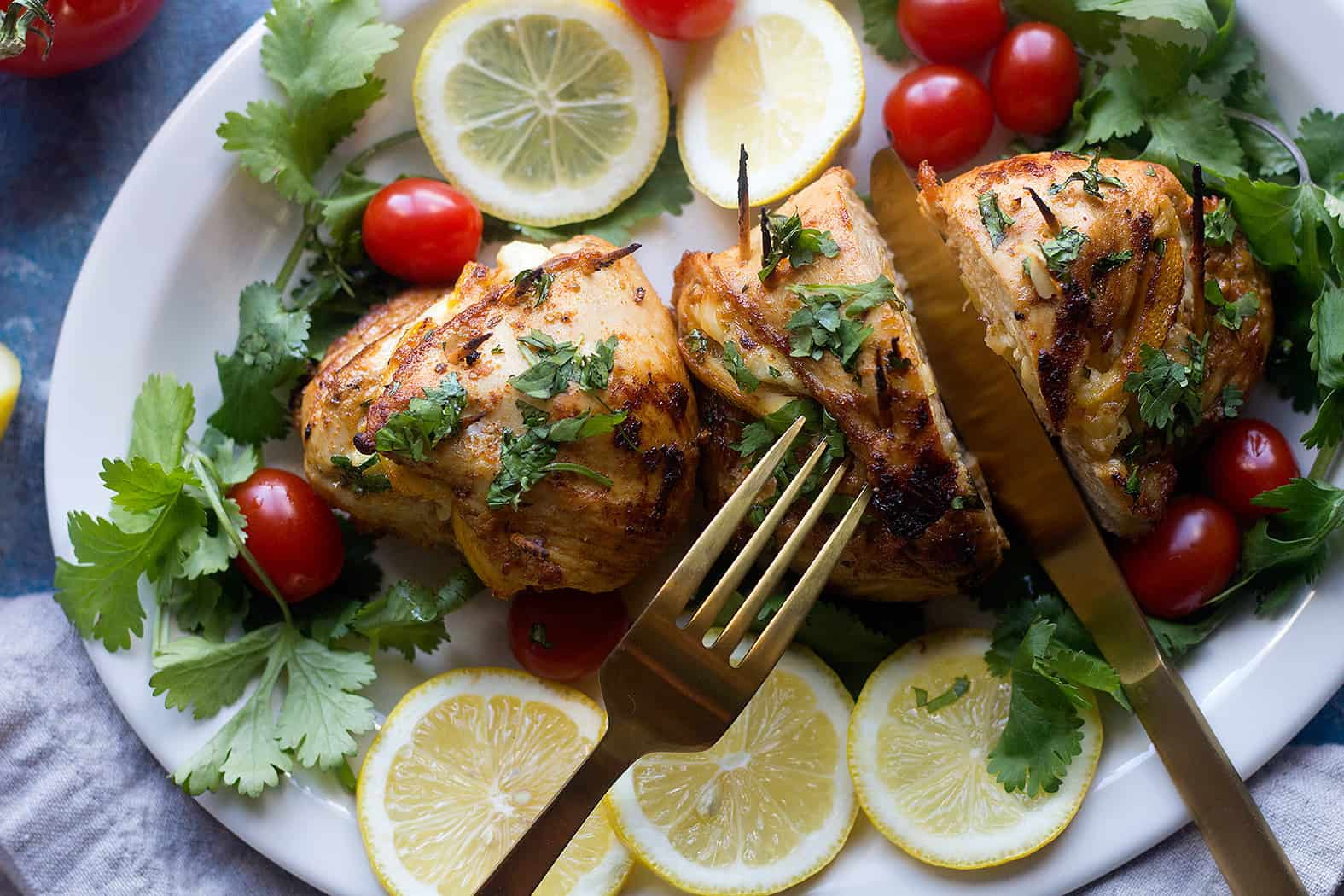 This cheese stuffed chicken breast is great for a dinner with family.