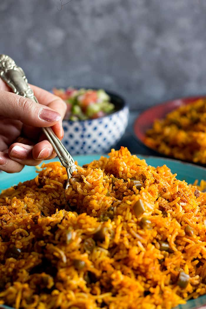 Persian green bean rice is easy and simple with so much flavor.