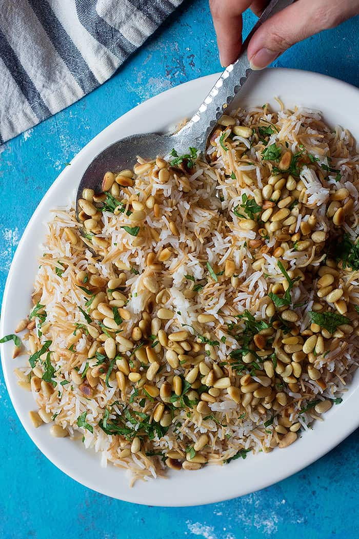 Lebanese rice with vermicelli is a delicious Middle Eastern side dish. It's made with only three ingredients and makes the perfect side dish for any main dish.