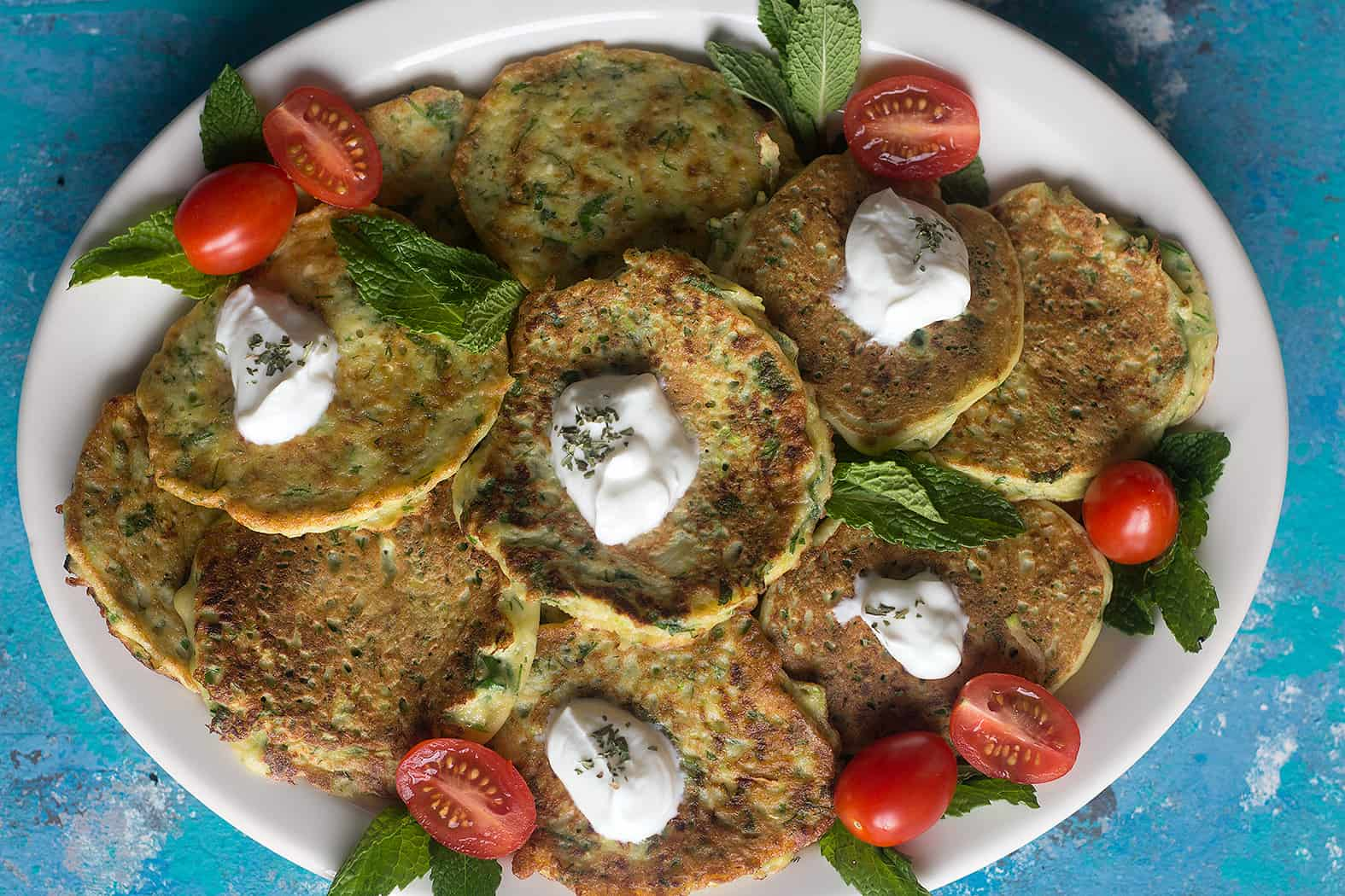 Mucver is a classic Turkish appetizer that's made with zucchinis.