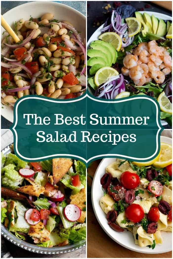 A collection of summer salad recipes