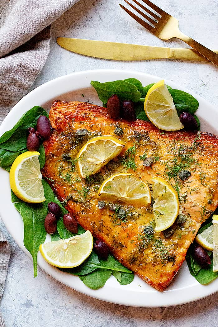 An easy salmon recipe with so much flavor, this dijon salmon recipe is a family favorite. This baked salmon is juicy, tender and very easy to make.