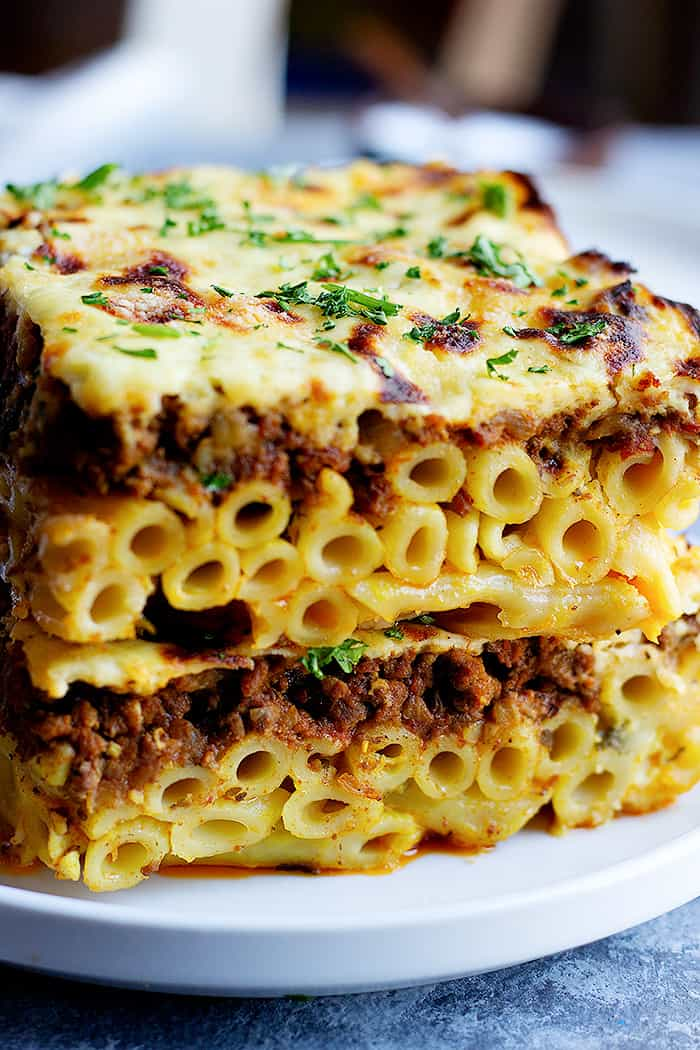 Pastitsio is a Greek pasta bake that's bursting with flavor. Learn how to make pastitsio with this step-by-step tutorial and video.