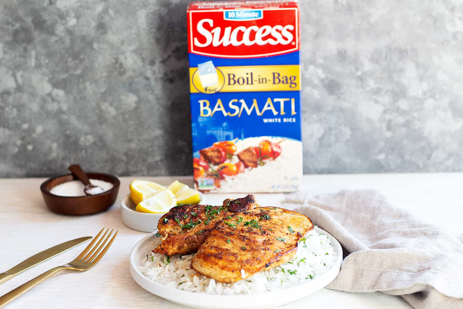 sponsored content lemon chicken and rice with success basmati rice