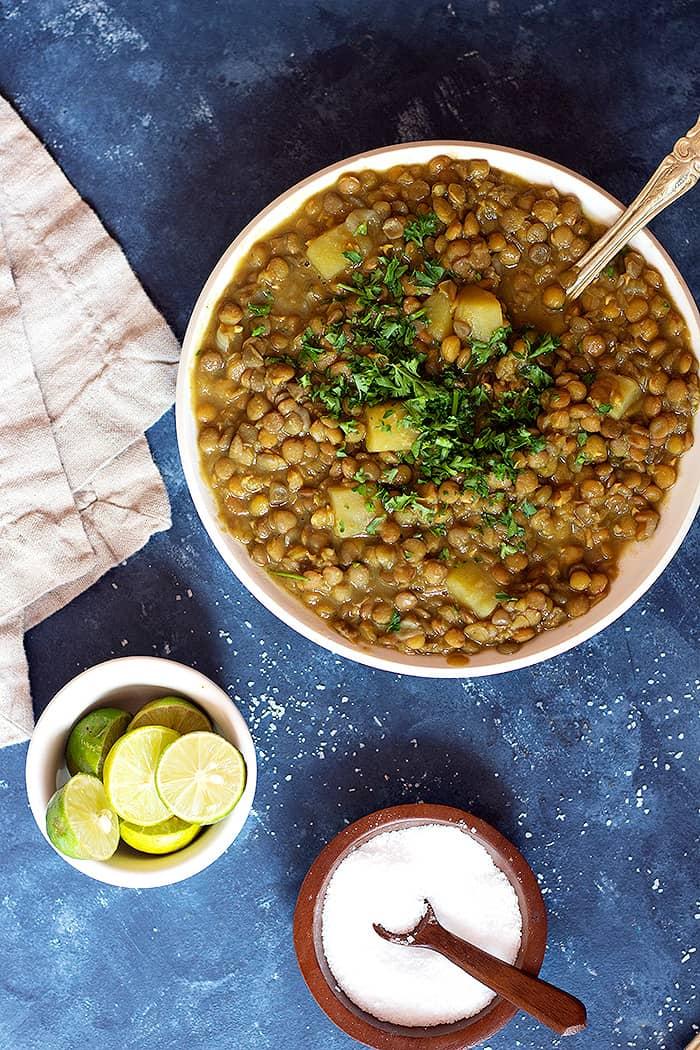 Adasi Persian lentil soup