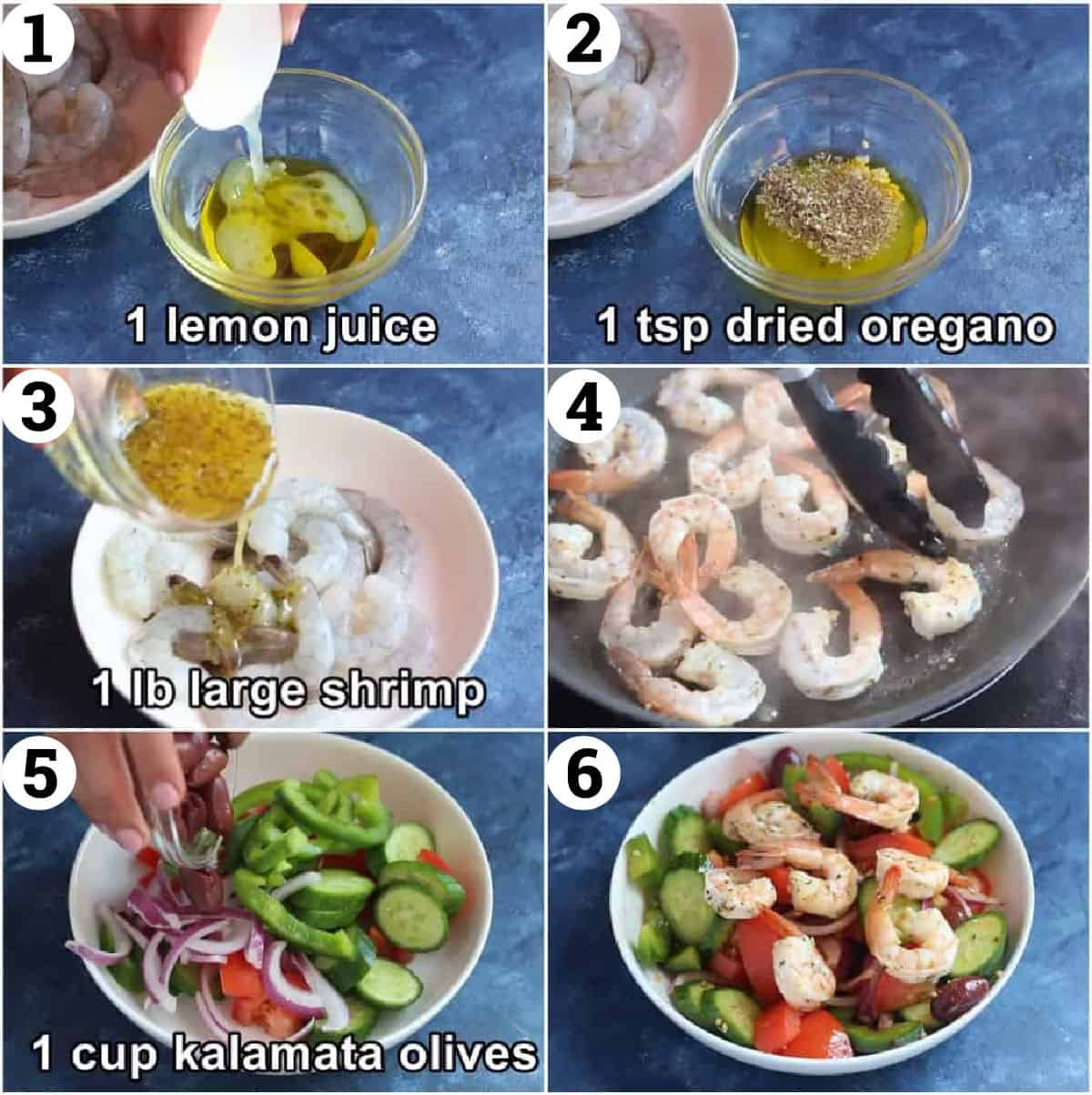 make the marinade then use half to cook the shrimp and half as a dressing.